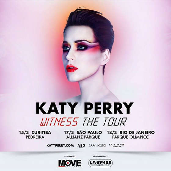 Confirmado: Katy Perry fará shows no Brasil em março